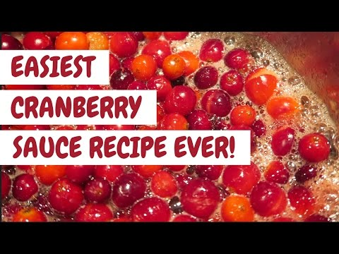 Easiest Cranberry Sauce Recipe EVER!