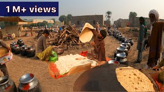 Traditional Marriage ceremony in Cholistan Desert   Cooking food for 1000 peoples   Pakistan