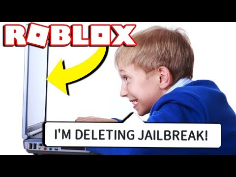 IF A KID OWNED ROBLOX PART 2! *DELETING JAILBREAK*