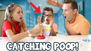 Catching Poop with our Dad Challenge!