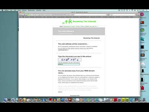 how to change your website to a free domain name