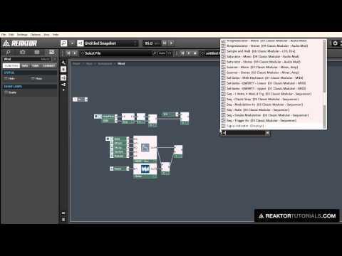 Reaktor Video Tutorial - Designing A Guitar Synth & a Slide Flute In Reaktor