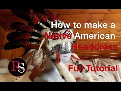 DIY Full Tutorial - Making A Native American Headdress / War Bonnet