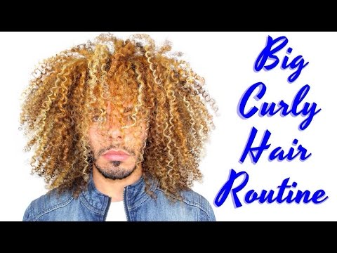 Big Curly Hair Routine Wash And Go For Natural Afro Kinky Curls Male & Female How To Tutorial