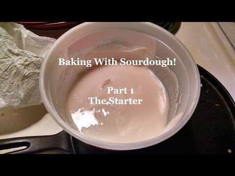 Baking With Sourdough!  Part 1 - Making The Starter