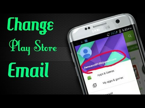 Google play store - How to change the account for Android Market