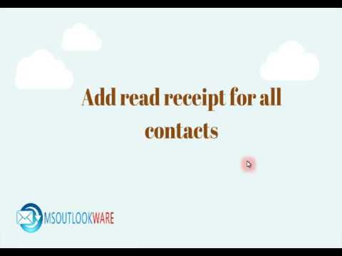 Enable/Disable Read Receipt in Microsoft Outlook 2013, 2010