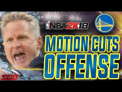 NBA 2K18 Tips: Best Motion Offense! GSW Motion Cuts Offense