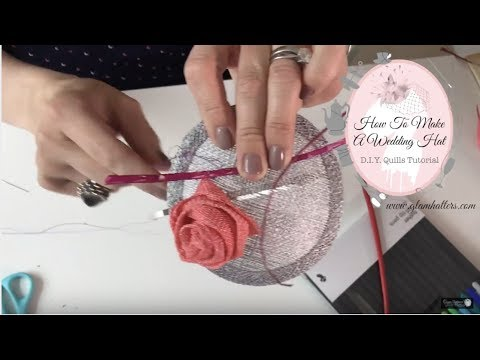 [Part 4 of 6] - Quills Tutorial - How To Make A Wedding Fascinator