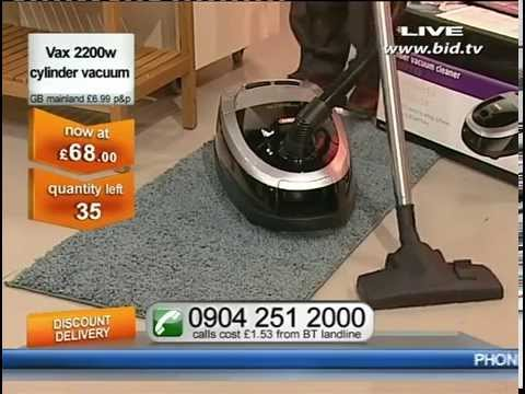 Vax 2200 Watt Maxima Cylinder Vacuum Cleaner Being Sold On Bid TV