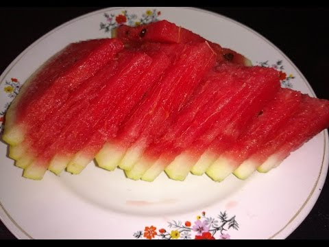 Easy way to Cut Watermelon into Slices