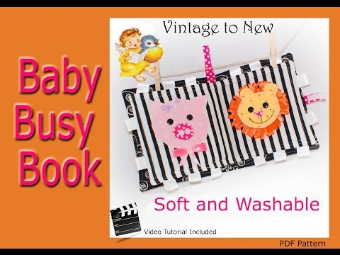 Baby Busy Book - Fun to Chew and Fun to Play