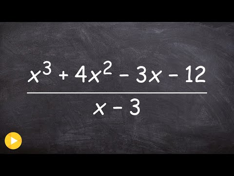 Dividing polynomials using long division