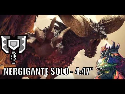 Monster Hunter World  β - Nergigante Solo - Charge Blade - 4:47