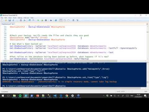 PowerShell for SQL Restores