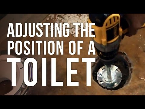 Adjusting the Position of a Toilet with an Offset Flange