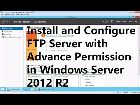 Install and Configure FTP Server with Advance Permission in Windows Server 2012 R2