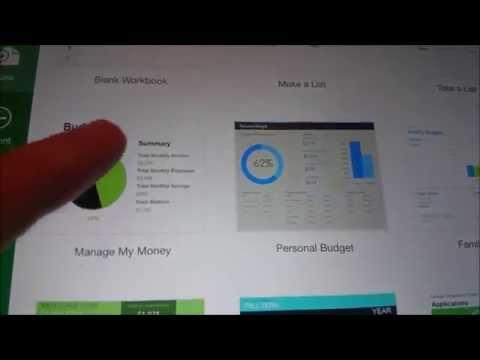 iPad Air 2 Microsoft Excel Demo