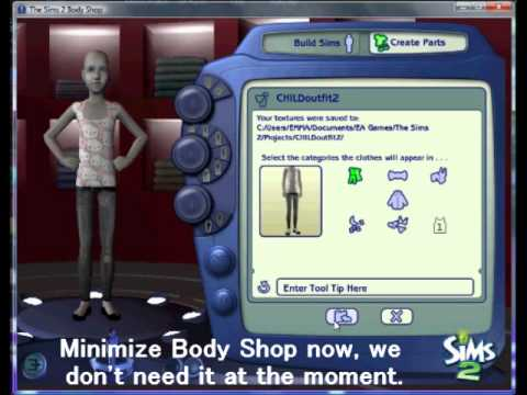 Converting Clothes for Kids!! [Sims 2]