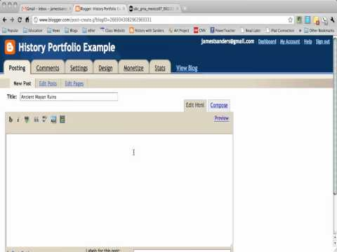 Adding a picture to a Blogger blog post