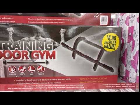 Training Door Gym (aka  pullup bar) for $4.99 at 99 cent store