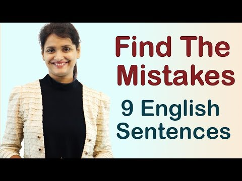 9 English Sentences: Find the Mistakes - English Lesson for Beginners