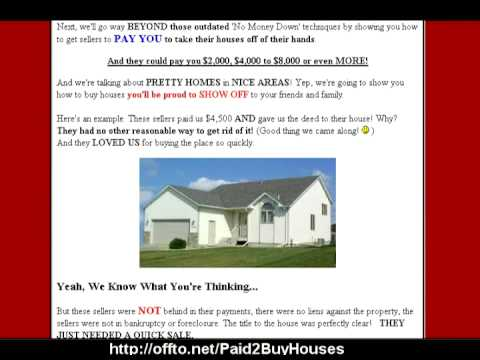 Go Beyond No Money Down  You Can Get Paid To Buy Houses