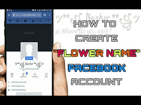 How To Create Flower Name Account In Facebook | Latest Trick 2018