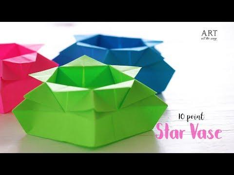 DIY 10-Point Star Vase | Paper Craft Ideas | Origami Instructions