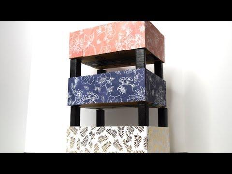 {DIY} Cardboard Box Organizer ♻️ Recycle