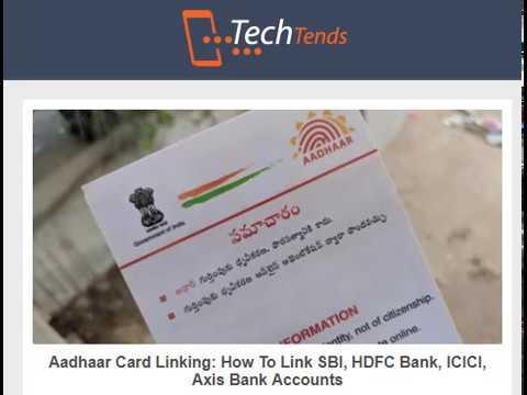 Aadhaar Card Linking: How To Link SBI, HDFC Bank, ICICI, Axis Bank Accounts
