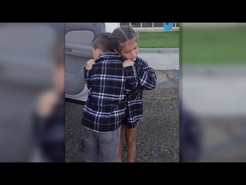 Hearts Melt as 9-Year-Old 'Couple' Says Goodbye