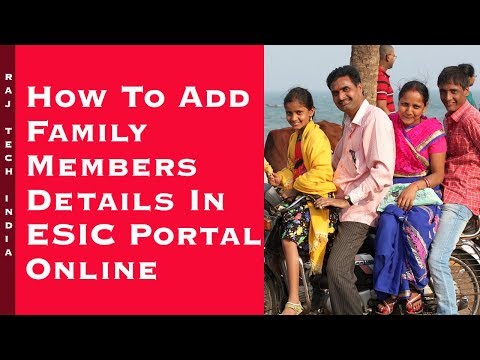 ESIC Family Details Update Online || ESIC Family Name Update