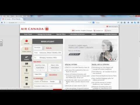 How to Find a Ticket on AirCanada