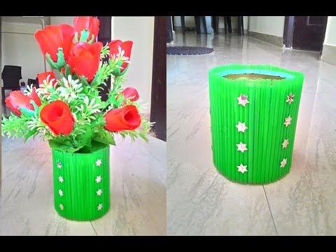 Waste material flower pot