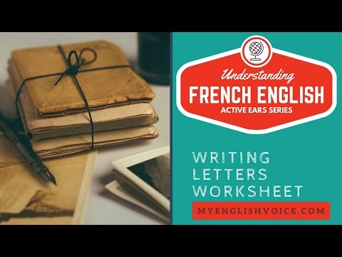 Writing letters worksheet: French English