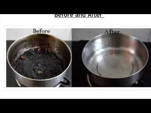 How to clean burnt stain steel pot