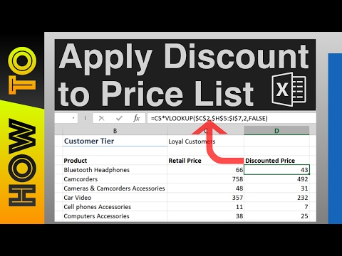 How To | Apply Discount to Price List for Different Customers in Excel