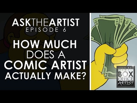 HOW MUCH DOES A COMIC BOOK ARTIST ACTUALLY MAKE?  ASK THE ARTIST EPISODE 06