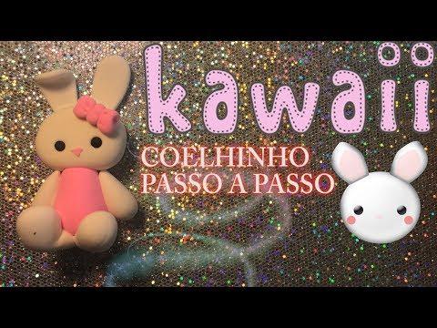 COMO FAZER O COELHINHO KAWAII PASSO A PASSO | PERSONAGEM EM MASSA | BISCUIT  DIY CCG