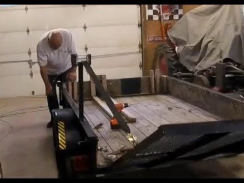 Lift system for a Utility trailer ramp - REDNECK Style -
