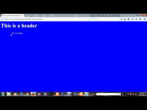 How to change Your Website Pages Background color By Using HTML coding