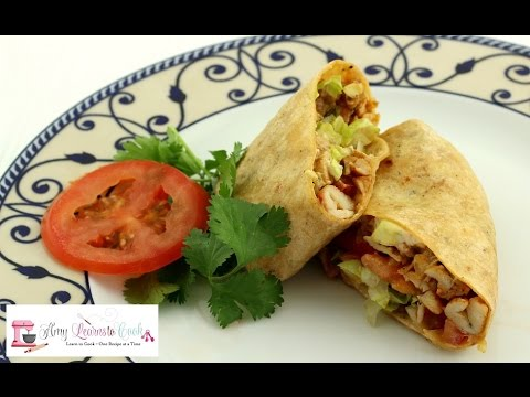 Chipotle Chicken Wrap with Avocado ~ Amy Learns to Cook