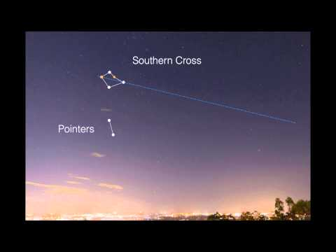 Finding South with the Southern Cross