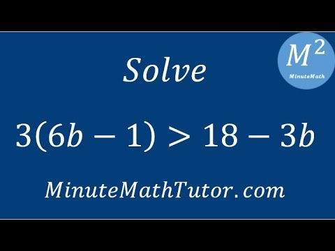 Solve 3(6b-1)›18-3b