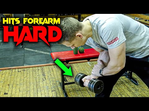 Build bigger forearms with Dumbbell (Wrist Curls on knee)