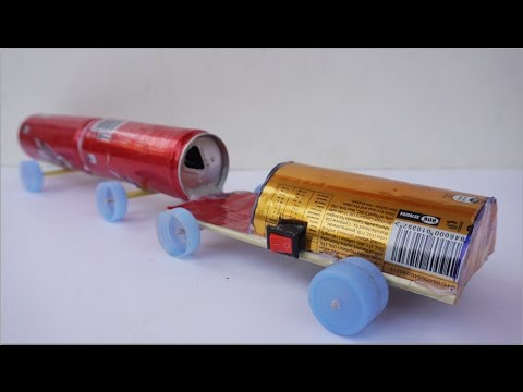 How To Make Electric Car By cans And DC Motor - Toy Truck Very Simple