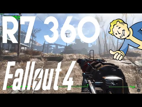 Fallout 4 - AMD R7 360 Framerate Test   1080p Benchmark