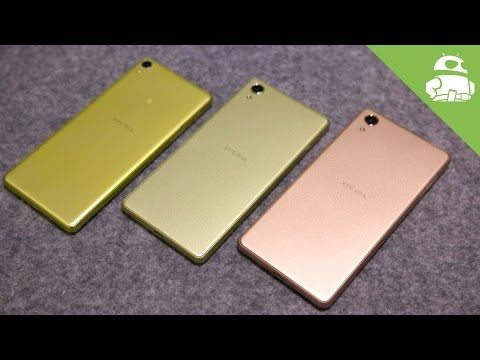 Sony Xperia X series hands-on