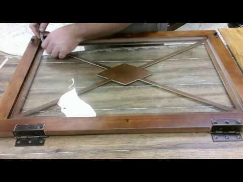 Change door panel wood or glass